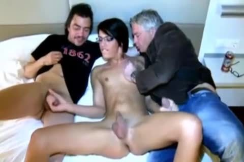 Two dudes With Beauty Ts brunette