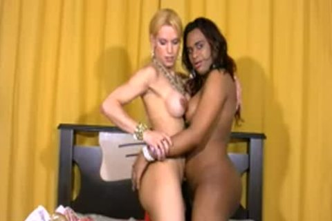 Full video Of darksome shemale engulfing And Riding White ramrod