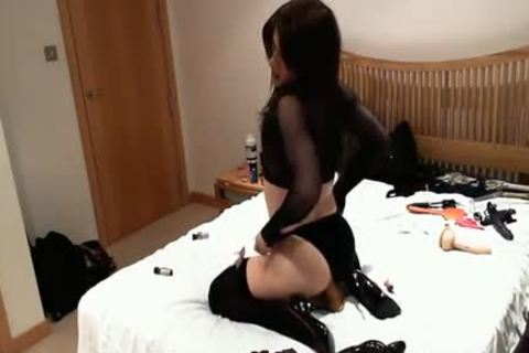 charming wicked tgirl skank bonks dildo toys And High Heels Up Her wild asshole