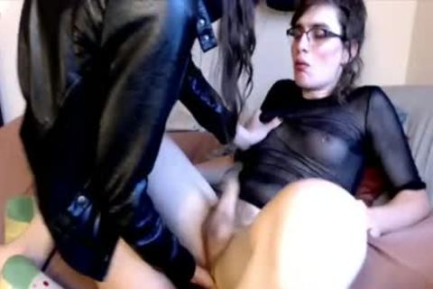 Hung Femboy anal Prostage Massage lucky tgirl
