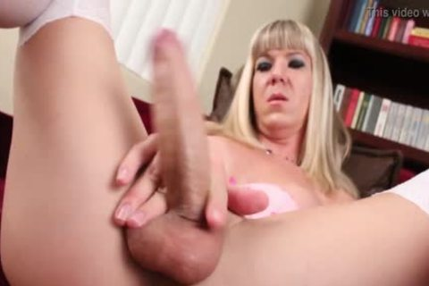 giant Tit blonde shemale Lora Hoffman stroking