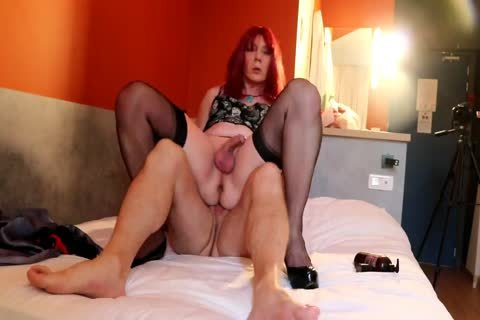 bulky ladyman Being pounded And pissed On
