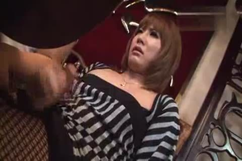 Japanese Ladyboy handjob In Restaurant