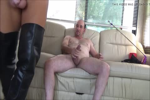 Stefani Boots ass In Chastity ,gulp cum