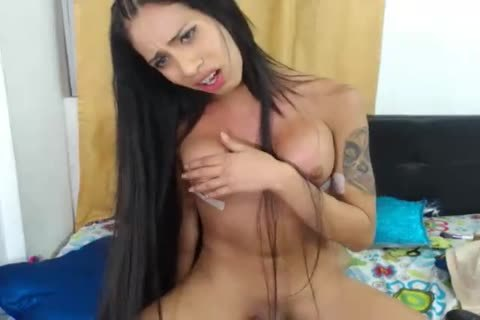 Latin shemale Jessy Dubai screwed filthy tranny Eva Cassini