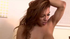 Transsensual - Brunette Madison Montag nailed rough