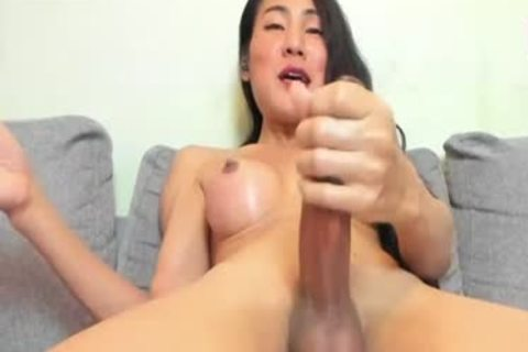 delicious asian shemale stroking On web camera Live, Part 4