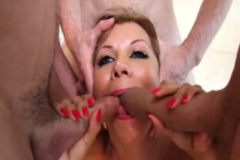Naomi Chi Takes three weenies For Her Thirsty tranny butthole