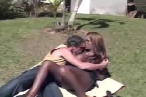 Interracial butthole pounding Outdoor Scene