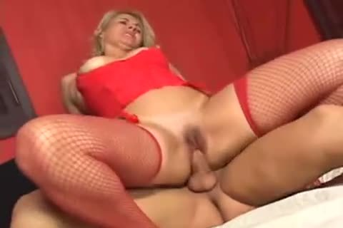 angel In Red fuckled By horny gmatureen-haired TS