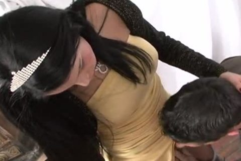 kinky Ladyboy hammers Tattooed Hunk On A Table