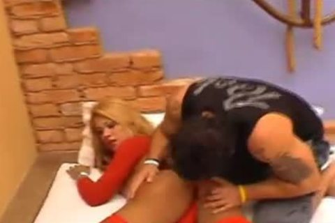 golden-haired whore In Red stockings groupfucked Hard