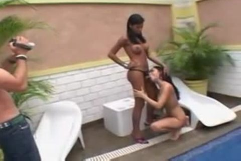 Tcutie And banging Monica Mattos Pool Side