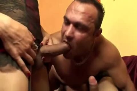 Two humongous cock Euro sheladys poke Their guy